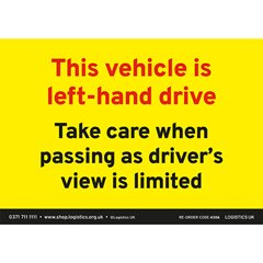 Left Hand Drive Sticker