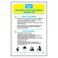 Provision and Use of Work Equipment Regs Poster