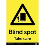 A4 Blind Spot Take Care Sticker