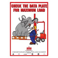 """Check data plate for maximum load"" - A3PosterSP22"