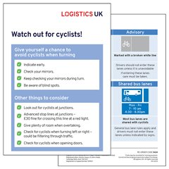 Cyclist Awareness Drivers' Card