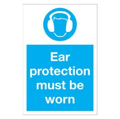 """Ear protection must be worn"" sign (MA85R)"