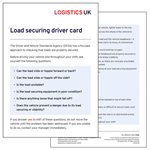 Load Securing Drivers Card