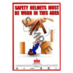 """Safety helmets must be worn in this area"" - SP28"