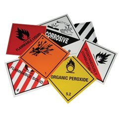 Hazard Warning Diamond Magnetic