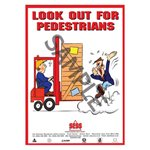 """Look out for pedestrians"" - A3 Poster SP20"