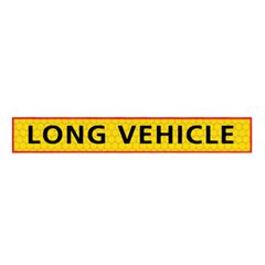 Long vehicle sign Self Adhesive