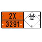 Folding Hazchem Medical Waste Sign