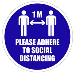 Social Distancing 1m Floor Sticker