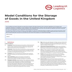 Conditions of Storage Brochure
