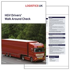HGV Drivers Walk Around Check Card