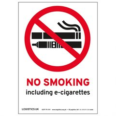 A6 No Smoking/E-cigarette Sticker