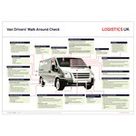 Van & Light Vehicle Walk Around Check Poster
