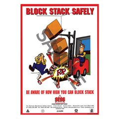 """Block stack safely"" - A3 Laminated Poster SP09"