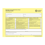 PCV40 - Passenger Carrying Vehicle Defect Report Pad - Single