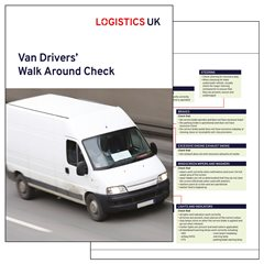 Van Drivers Walk Around Check Card