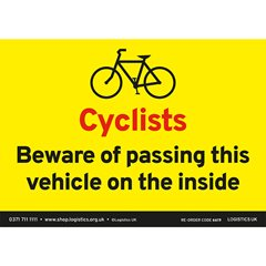 Cyclist Beware Sticker
