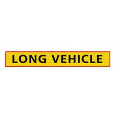 Long vehicle sign Aluminium