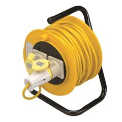 Extension Cable Reel 110V Freestanding with 2 Sockets