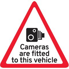 Camera Fitted Triangle Sticker