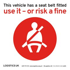 HGV Seat Belt Sticker