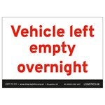 Vehicle Left Empty Overnight Sticker