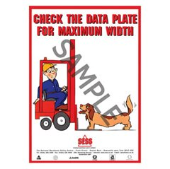 """Check the data plate for maximum width"" - SP24"