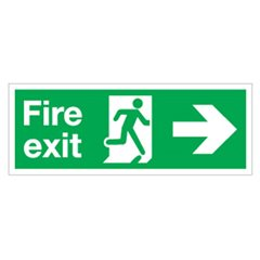 Fire exit sign SA1S