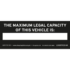 Maximum Capacity Sticker