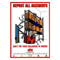 """Report all accidents"" - A3 Laminated Poster SP02"