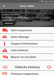 Van Excelllence Defect Check App with Hours Rules