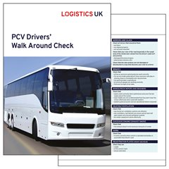 PCV Drivers Walk Around check Card