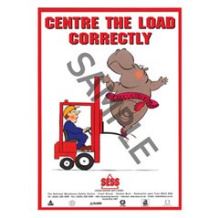 """Centre load correctly"" - A3 Laminated Poster SP23"