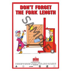 """Don't forget the fork length"" - A3 Poster SP15"