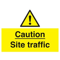 """Caution site traffic"" sign (WA22OR)"