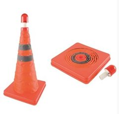 AA Pop Up Cone with Flashing Emergency Beacon Light