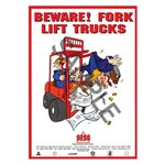 """Beware fork lift trucks"" - A3 Poster SP32"