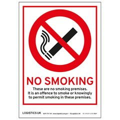 Double-sided No Smoking Sticker