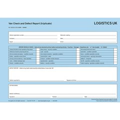 VAN40 Defect Report Pad - Triplicate