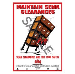 """Maintain SEMA clearances"" - A3 Poster SP07"