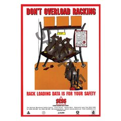 """Don't overload racking"" - A3 Laminated Poster (SP11)"