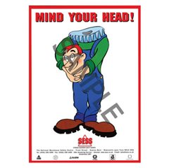 """Mind your head"" - A3 Laminated Poster SP31"