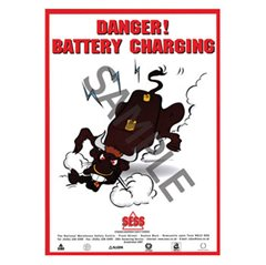 """Danger - battery charging"" - A3 Poster SP27"