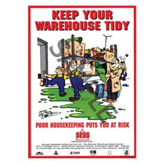 """Keep your warehouse tidy"" - A3 Poster SP05"