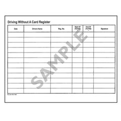 Driving without a card register (DWC)