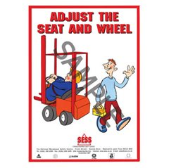 """Adjust the seat and wheel"" - A3 Poster SP14"