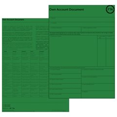Own Account Documents (Pack of 10)