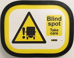 Premium Blind Spot Take Care Sign -  Landscape Large