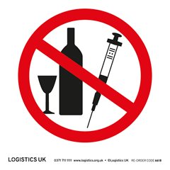 No Drink/Drugs Sticker
