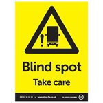 Blind Spot Take Care A5 Portrait Sticker